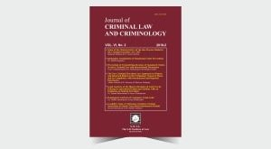 Journal of Criminal Law and Criminology - Number 12