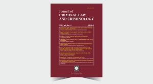 Journal of Criminal Law and Criminology - Number 14