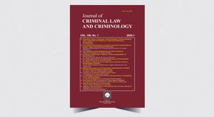 Journal of Criminal Law and Criminology - Number 15
