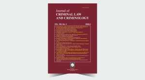 Journal of Criminal Law and Criminology - Number 16