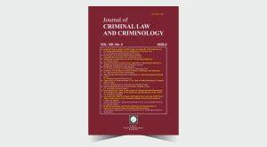 Journal of Criminal Law and Criminology - Number 16